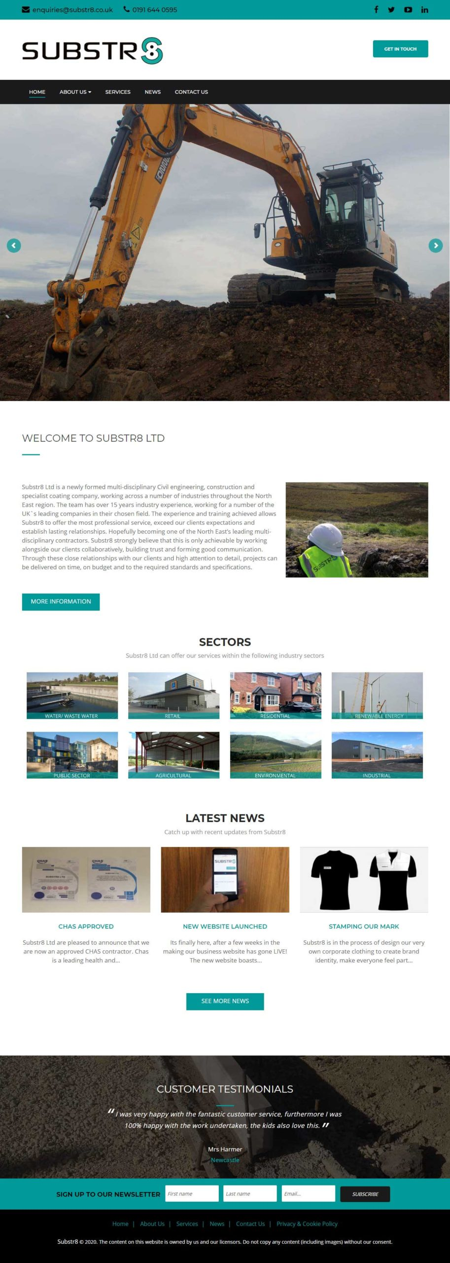 Substr8 Civil engineering, construction and specialist coating company
